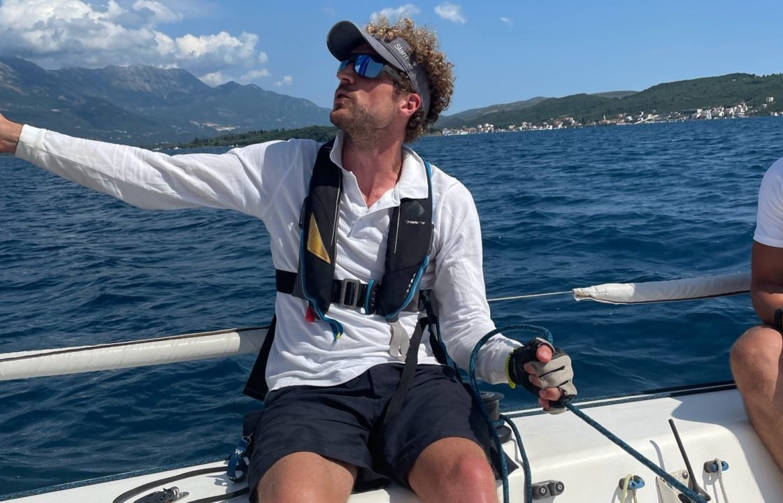 sailing in the montenegro
